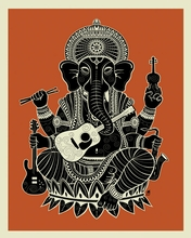 Ganesh Canvas Wall Art