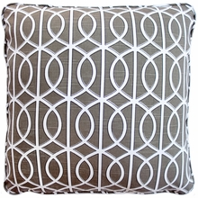 Gate Charcoal Throw Pillow