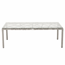 Gazelle Glass Coffee Table in Clear and Taupe
