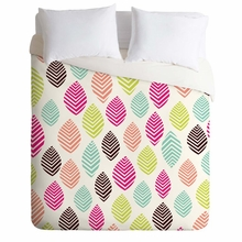 Geo Zest Leaves Lightweight Duvet Cover