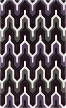 Geometric Cosmopolitan Rug in Purple