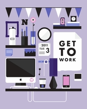 Get To Work Canvas Wall Art