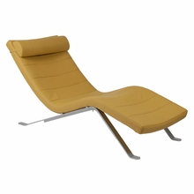 Gilda Lounge Chair Seat in Saffron and Silver Base