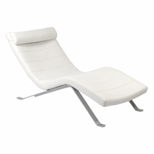 Gilda Lounge Chair Seat in White and Silver Base