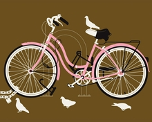 Girl Bike Canvas Wall Art