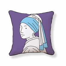 Girl With Pearl Earring Throw Pillow
