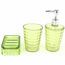 Glady 3-Piece Bathroom Accessory Set in Lime
