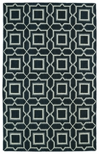 Glam Boxed Rug in Charcoal