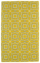 Glam Boxed Rug in Yellow