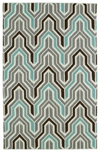 Glam Chevron Rug in Grey