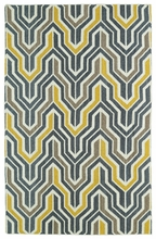 Glam Chevron Rug in Yellow