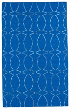 Glam Connect the Dots Rug in Blue