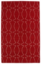 Glam Connect the Dots Rug in Red