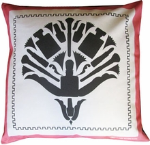 Glam Damask Throw Pillow