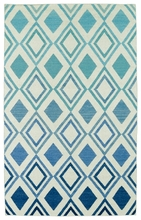 Glam Diamonds Rug in Blue