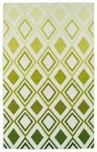 Glam Diamonds Rug in Green
