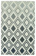 Glam Diamonds Rug in Grey