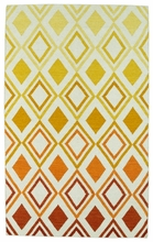 Glam Diamonds Rug in Orange