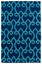 Glam Lattice Rug in Blue