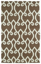 Glam Lattice Rug in Brown
