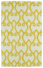 Glam Lattice Rug in Yellow
