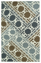 Glam Mixed Rug in Brown