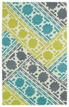 Glam Mixed Rug in Turquoise