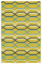 Glam Waves Rug in Yellow