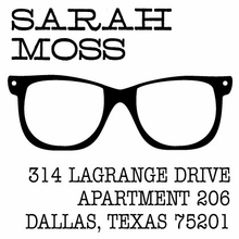 Glasses Personalized Self-Inking Stamp