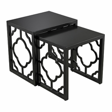 Gloss Black Moroccan Nesting Table
