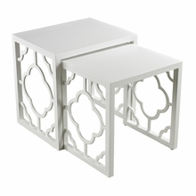 Gloss White Moroccan Nesting Table