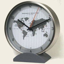 GMT Stainless Steel Convertible Table or Wall Clock