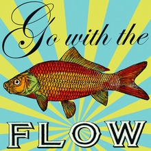 Go With the Flow Canvas Art