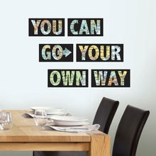 Go Your Own Way Quote Wall Decal