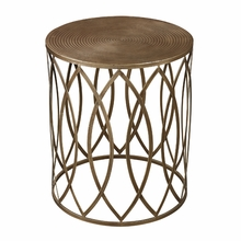 Gold Leaf Trellis Side Table