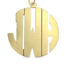 Gold Monogram Necklace - Block