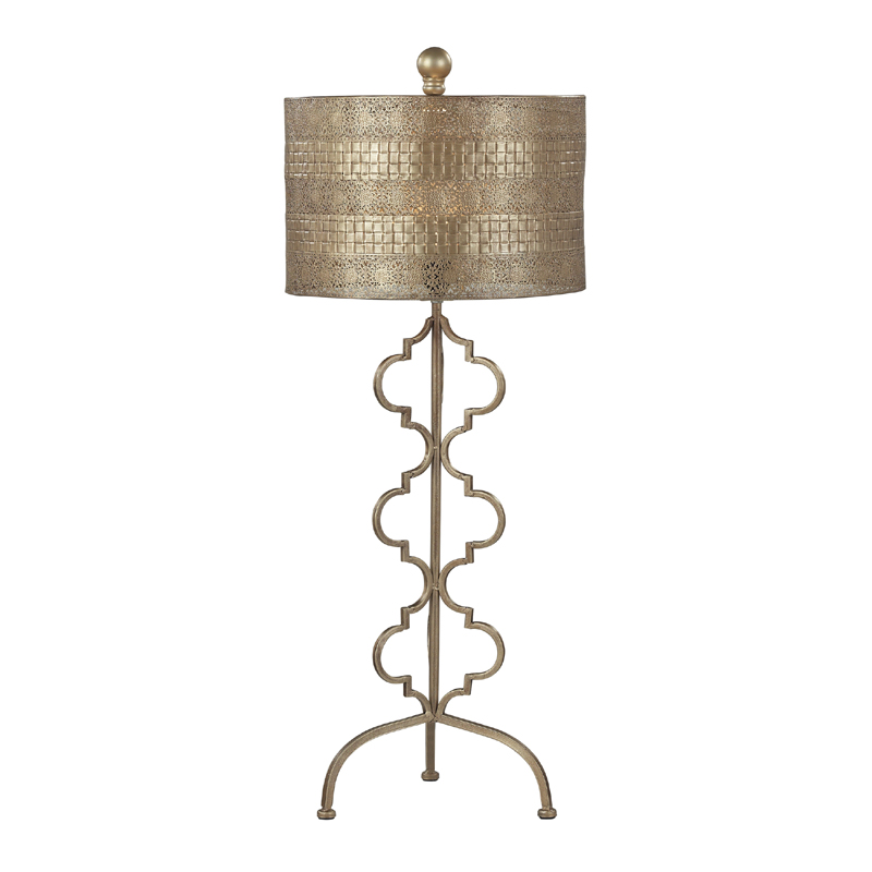 district17 gold moroccan table lamp lamps. Black Bedroom Furniture Sets. Home Design Ideas