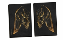 Gold Wing I, II Canvas Wall Art Set