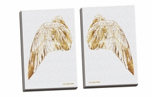 Gold Wing III, IV Canvas Wall Art Set