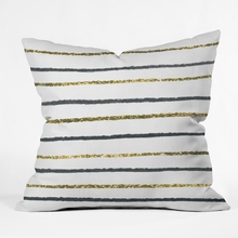 Golden Black Throw Pillow