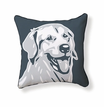Golden Retriever Reversible Throw Pillow