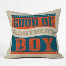 Good Ol Boy Throw Pillow