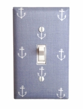 Gray Anchor Light Switch Plate Cover