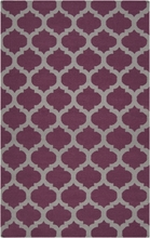 Gray and Raspberry Trellis Frontier Rug