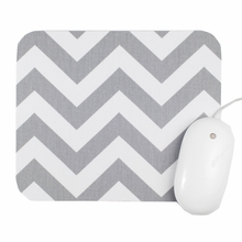 Gray and White Chevron Mouse Pad