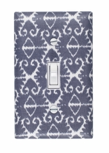 Gray Ikat Light Switch Plate Cover