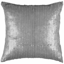 Gray Sequin Throw Pillow