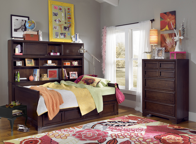 Grayson Bookcase Day Bed - District17: Grayson Bookcase Day Bed: Beds
