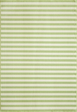 Green Baja Striped Rug