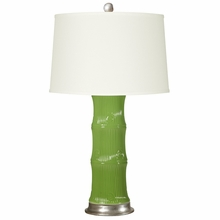 Green Bamboo Lamp Base